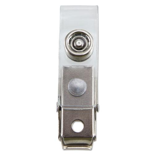 """SICURIX ID Strap Clips, 0.38"""" x 2.75"""", Clear, 25/Pack. Picture 4"""