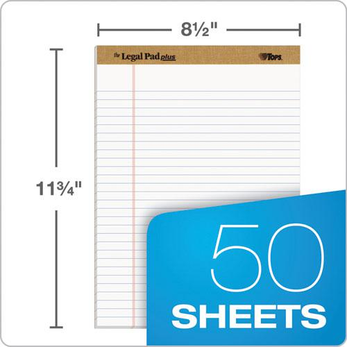"""""""The Legal Pad"""" Ruled Pads, Wide/Legal Rule, 8.5 x 11.75, White, 50 Sheets, Dozen. Picture 2"""