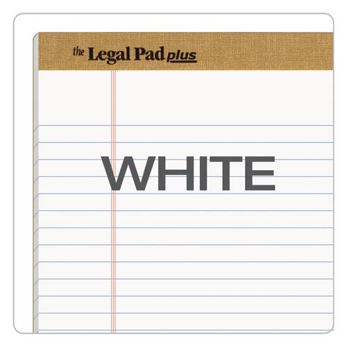 """""""The Legal Pad"""" Ruled Pads, Wide/Legal Rule, 8.5 x 11.75, White, 50 Sheets, Dozen. Picture 6"""
