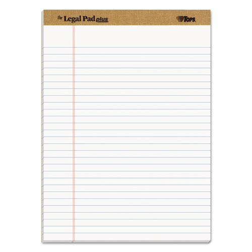 """""""The Legal Pad"""" Ruled Pads, Wide/Legal Rule, 8.5 x 11.75, White, 50 Sheets, Dozen. Picture 1"""