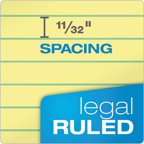 """""""The Legal Pad"""" Ruled Pads, Wide/Legal Rule, 8.5 x 11.75, Canary, 50 Sheets, Dozen. Picture 3"""