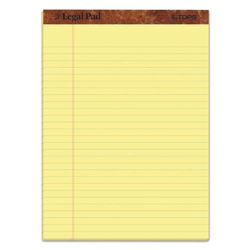 """""""The Legal Pad"""" Ruled Pads, Wide/Legal Rule, 8.5 x 11.75, Canary, 50 Sheets, Dozen. Picture 1"""
