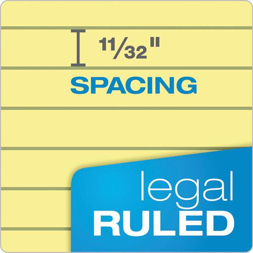 """""""The Legal Pad"""" Ruled Pads, Wide/Legal Rule, 11.75 x 8.5, Canary, 50 Sheets, Dozen. Picture 3"""