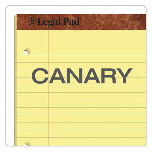 """""""The Legal Pad"""" Ruled Pads, Wide/Legal Rule, 11.75 x 8.5, Canary, 50 Sheets, Dozen. Picture 5"""
