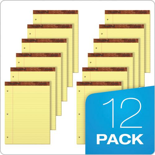 """""""The Legal Pad"""" Ruled Pads, Wide/Legal Rule, 11.75 x 8.5, Canary, 50 Sheets, Dozen. Picture 6"""