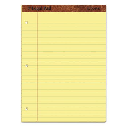 """""""The Legal Pad"""" Ruled Pads, Wide/Legal Rule, 11.75 x 8.5, Canary, 50 Sheets, Dozen. Picture 1"""