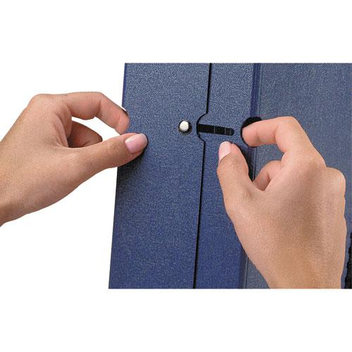 """Spiral Poly Expanding File, 4"""" Expansion, 13 Sections, Letter Size, Navy Blue. Picture 3"""