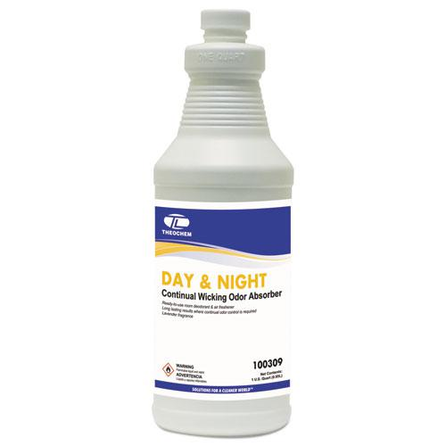 Day and Night Wicking Odor Absorber, 32 oz Bottle, Lavender, 12/Carton. Picture 1