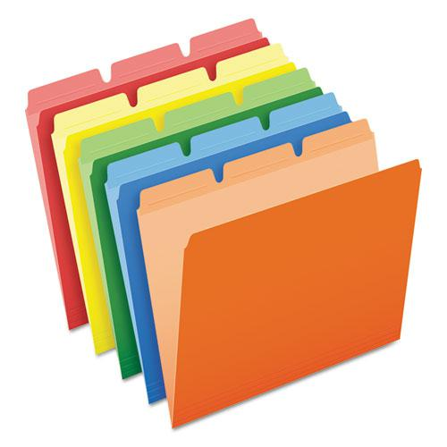 Ready-Tab Reinforced File Folders, 1/3-Cut Tabs, Letter Size, Assorted, 50/Pack. Picture 1