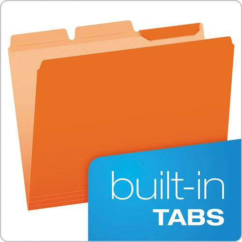 Ready-Tab Reinforced File Folders, 1/3-Cut Tabs, Letter Size, Assorted, 50/Pack. Picture 2