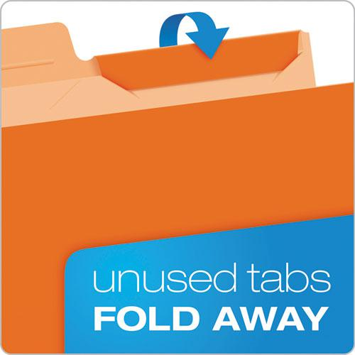 Ready-Tab Reinforced File Folders, 1/3-Cut Tabs, Letter Size, Assorted, 50/Pack. Picture 3