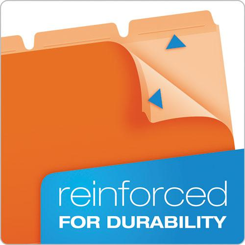 Ready-Tab Reinforced File Folders, 1/3-Cut Tabs, Letter Size, Assorted, 50/Pack. Picture 4