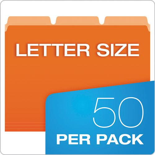 Ready-Tab Reinforced File Folders, 1/3-Cut Tabs, Letter Size, Assorted, 50/Pack. Picture 7