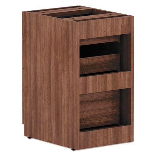 Alera Valencia Series Box/Box/File Full Pedestal, 15.63w x 20.5d x 28.5h, Modern Walnut. Picture 3