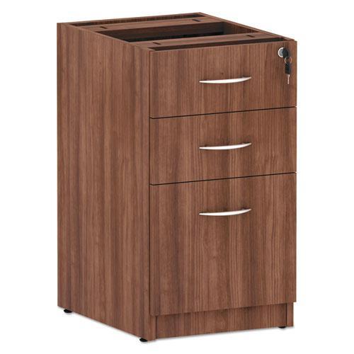 Alera Valencia Series Box/Box/File Full Pedestal, 15.63w x 20.5d x 28.5h, Modern Walnut. Picture 1