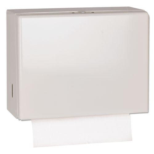 "Singlefold Hand Towel Dispenser, 11.75"" x 5.75"" x 9.25"", White. Picture 1"