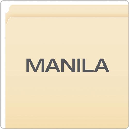 Manila File Folders, Straight Tab, Legal Size, 100/Box. Picture 3