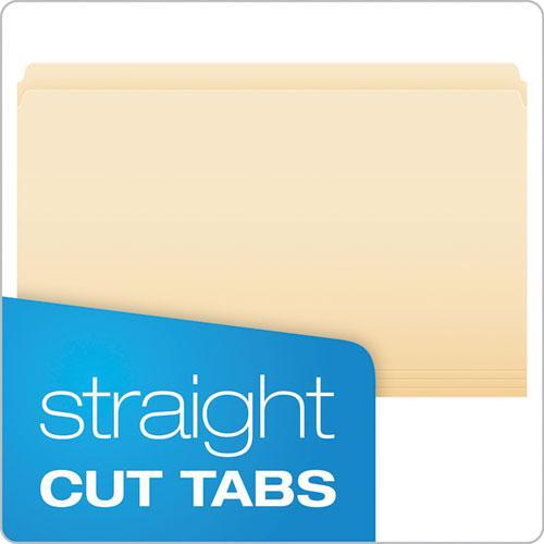 Manila File Folders, Straight Tab, Legal Size, 100/Box. Picture 2