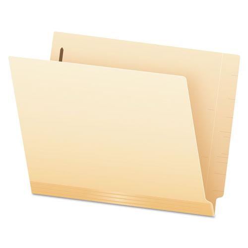 Manila Laminated End Tab Folders with One Fastener, Straight Tab, Letter Size, 11 pt. Manila, 50/Box. Picture 1