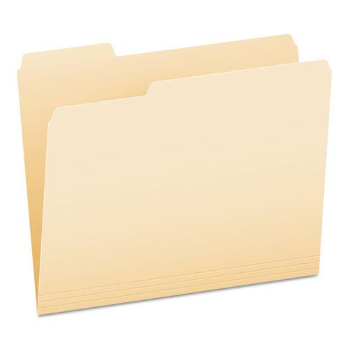 Manila File Folders, 1/3-Cut Tabs, Left Position, Left Position, Letter Size, 100/Box. The main picture.