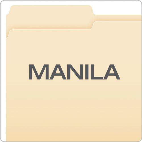 Manila File Folders, 1/3-Cut Tabs, Legal Size, 100/Box. Picture 3