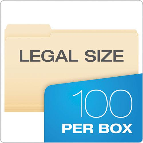 Manila File Folders, 1/3-Cut Tabs, Legal Size, 100/Box. Picture 5