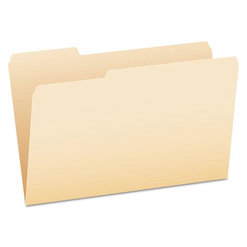 Manila File Folders, 1/3-Cut Tabs, Legal Size, 100/Box. Picture 1