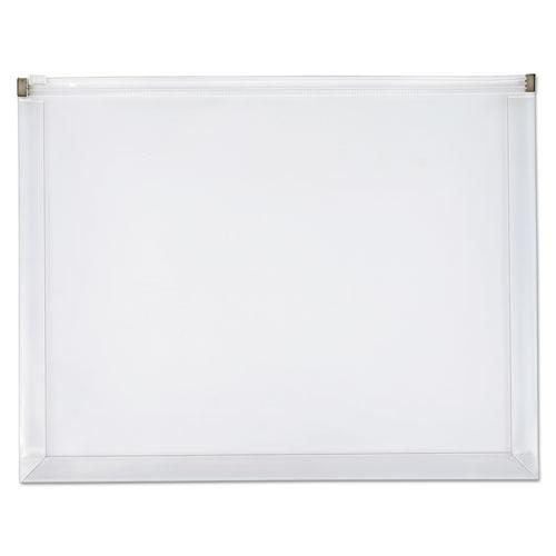 Poly Zip Envelope, Zipper Closure, 10 x 13, Clear, 5/Pack. Picture 1