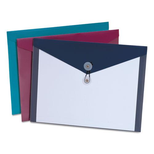 Poly Envelopes, Letter Size, Assorted Colors, 4/Pack. Picture 1