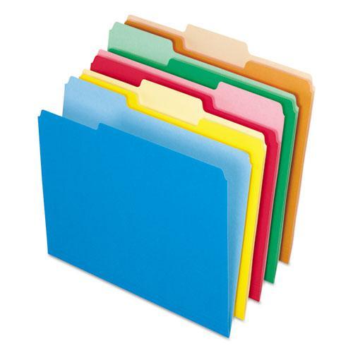Interior File Folders, 1/3-Cut Tabs, Letter Size, Assortment 2, 100/Box. Picture 1