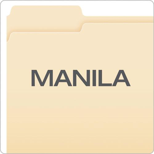Manila File Folders, 1/3-Cut Tabs, Left Position, Left Position, Letter Size, 100/Box. Picture 3