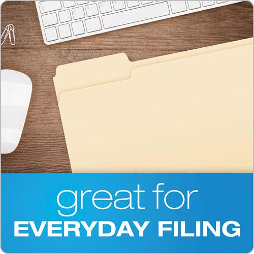 Manila File Folders, 1/3-Cut Tabs, Left Position, Left Position, Letter Size, 100/Box. Picture 4