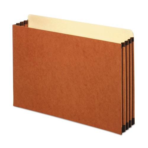 """File Cabinet Pockets, 3.5"""" Expansion, Legal Size, Redrope, 10/Box. Picture 1"""