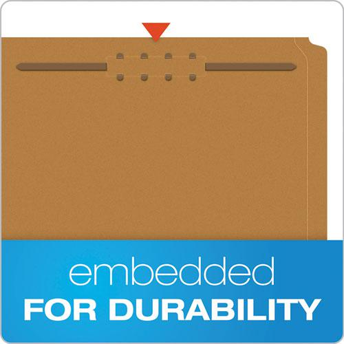 Kraft Folders with One Fastener, 1/3-Cut Tabs, Letter Size, Kraft, 50/Box. Picture 3