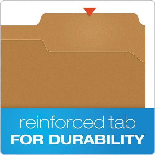 Kraft Folders with One Fastener, 1/3-Cut Tabs, Letter Size, Kraft, 50/Box. Picture 5