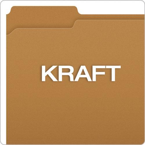 Kraft Folders with One Fastener, 1/3-Cut Tabs, Letter Size, Kraft, 50/Box. Picture 6
