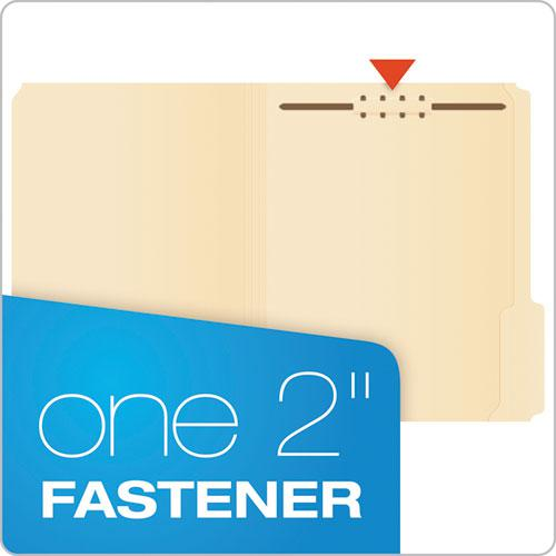 Manila Folders with One Fastener, Straight Tab, Letter Size, 50/Box. Picture 2