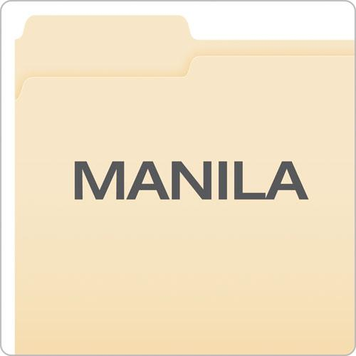 Manila Folders with One Fastener, Straight Tab, Letter Size, 50/Box. Picture 6