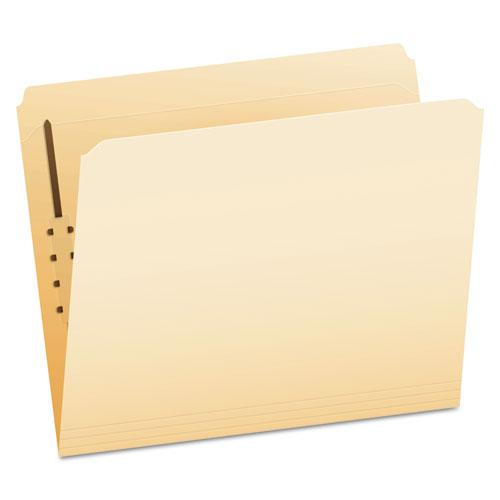 Manila Folders with One Fastener, Straight Tab, Letter Size, 50/Box. Picture 1