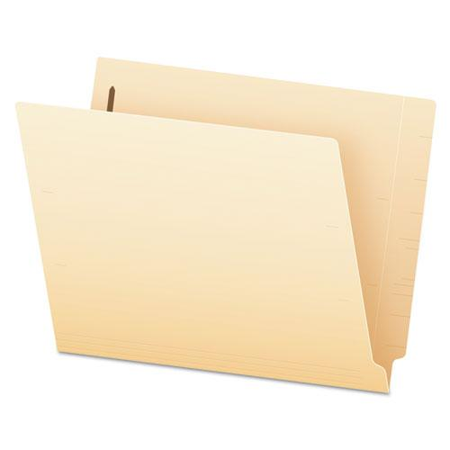 Manila End Tab Expansion Folders with One Fastener, 11-pt., 2-Ply Straight Tabs, Letter Size, 50/Box. Picture 1