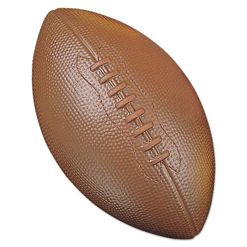 Coated Foam Sport Ball, For Football, Playground Size, Brown. Picture 1