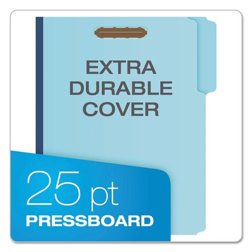 """Earthwise by Heavy-Duty Pressboard Folders with Two Fasteners, 1/3-Cut Tabs, 2"""" Expansion, Letter Size, Light Blue, 25/Box. Picture 2"""