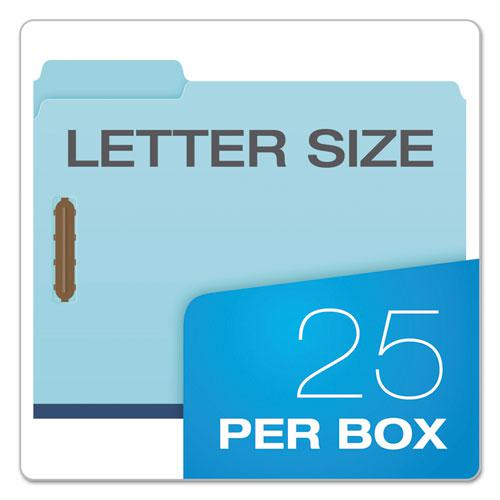 """Earthwise by Heavy-Duty Pressboard Folders with Two Fasteners, 1/3-Cut Tabs, 2"""" Expansion, Letter Size, Light Blue, 25/Box. Picture 7"""