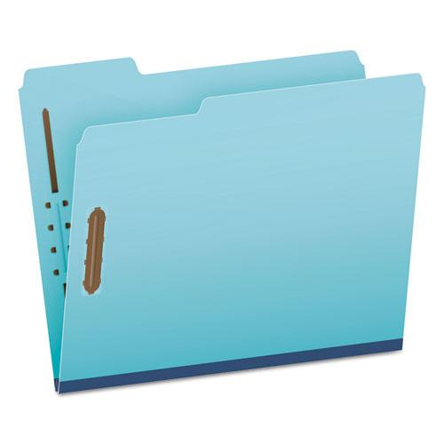 """Earthwise by Heavy-Duty Pressboard Folders with Two Fasteners, 1/3-Cut Tabs, 2"""" Expansion, Letter Size, Light Blue, 25/Box. Picture 1"""