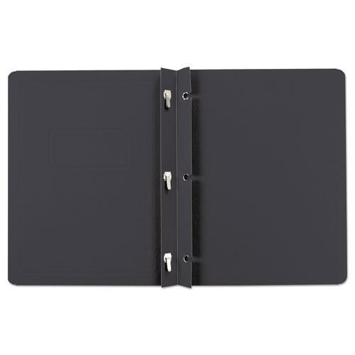 Report Cover, 3 Fasteners, Panel and Border Cover, Letter, Black, 25/Box. Picture 2
