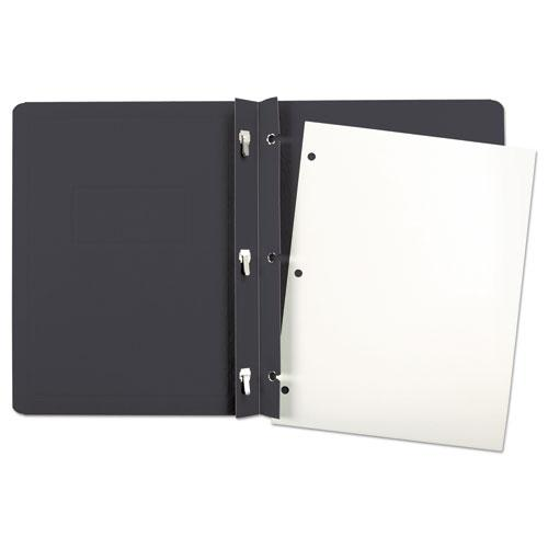 Report Cover, 3 Fasteners, Panel and Border Cover, Letter, Black, 25/Box. Picture 3