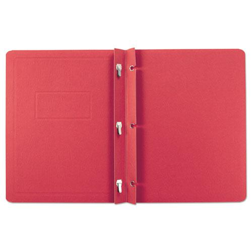Report Cover, 3 Fasteners, Panel and Border Cover, Letter, Red, 25/Box. Picture 2