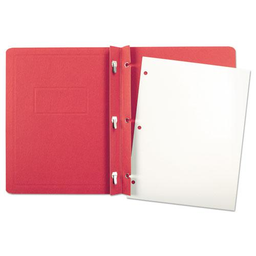 Report Cover, 3 Fasteners, Panel and Border Cover, Letter, Red, 25/Box. Picture 3