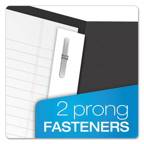 """Twin-Pocket Folders with 3 Fasteners, Letter, 1/2"""" Capacity, Black 25/Box. Picture 2"""