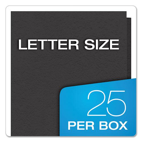 """Twin-Pocket Folders with 3 Fasteners, Letter, 1/2"""" Capacity, Black 25/Box. Picture 7"""